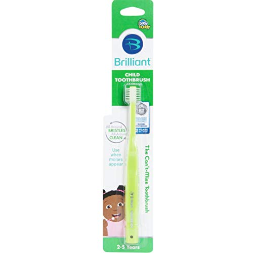 Brilliant Child Toothbrush by Baby Buddy, Ages 2-5 Years, Lime, 1 Count
