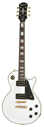 Paul Gibson Guitar Custom Les (Epiphone 6 String Ltd Ed Les Paul Classic Custom PRO (GH), Alpine White, Jumbo (ENCIAWGH3))