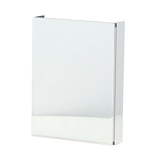 Rust-free Aluminum 20 in. W x 26 in. H Surface or Recessed Mount Beveled Mirror in Silver Medicine Cabinet, Clear by Pegasus
