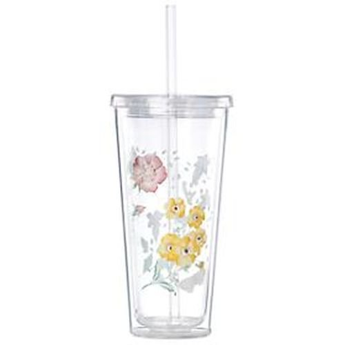 (Lenox Butterfly Meadow Dinnerware Cold Cup Tumbler with Straw)