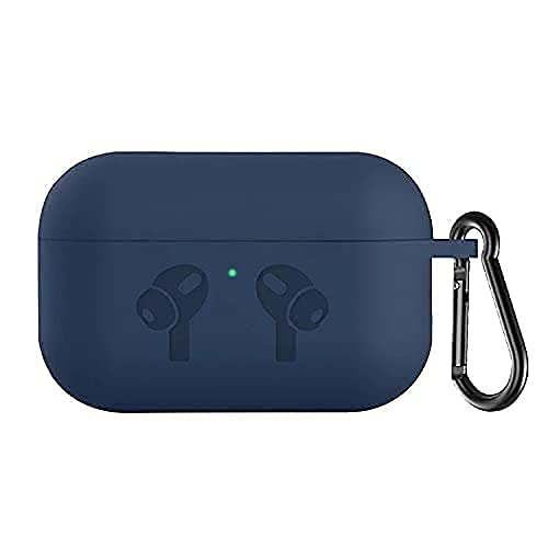 Loxxo Cover Compatible with AirPods Pro Case, Soft Silicone Protective Covers Skin (Front LED Visible) Designed for Airpod Pro Shockproof Cases with Keychain Accessories (Airpods Not Include) (Blue, AIRPODS PRO)