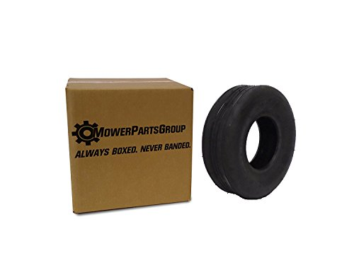 (1) 11x4.00-5 Rib Tire 4 ply Lawn Mower Garden Tractor 11-4.00-5 by MowerPartsGroup