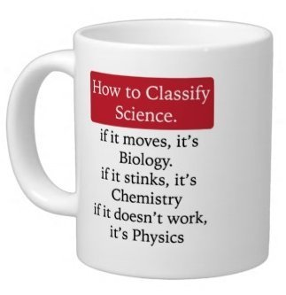 Hot Sale Valentine's Gift How to classify science. Biology. Chemistry. Physics 11oz Coffee or Tea Cup Classic Ceramic Material White Mug -Two Sides