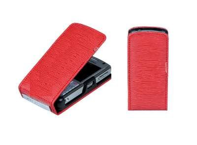 Blackberry Pearl 8120 Red - RED VERTICAL ENDURE CASE POUCH for RIM BLACKBERRY PEARL 8110 / 8120 / 8130