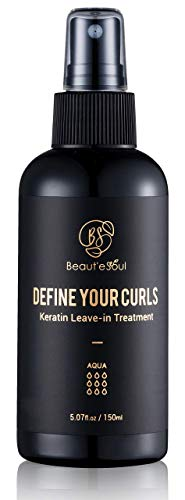 Curl Defining Spray Leave in Keratin Treatment for Damaged Wavy Curly Natural Hair 5 Fl.Oz | Professional Curly Hair Products | Heat Protectant Spray for Hair, Anti Frizz Hair Product, Hair Detangler