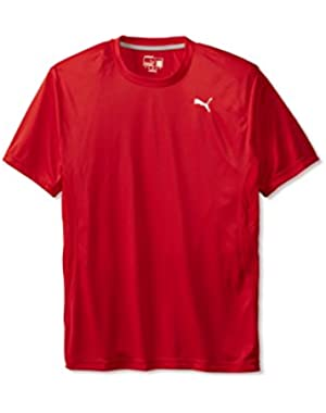 Mens PE Running Flatlock Short-Sleeve Shirt