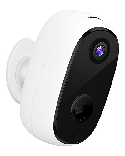 Security Camera Outdoor Rechargeable Battery Zumimall 1080P Wireless WiFi Cameras for Home Security, Waterproof Camera…