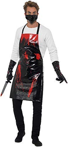 Mens Bloody Butcher Forensic Serial Killer Horror Halloween TV Book Film Fancy Dress Costume -