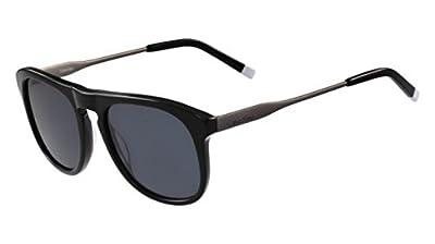 Calvin Klein Men's Ck4320s Oval Sunglasses, Black, 54 mm