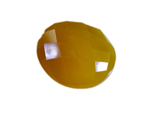 onyx jaune orange pierre lâche ovale checker 1 pc 21x25 mm styelorgj-520019