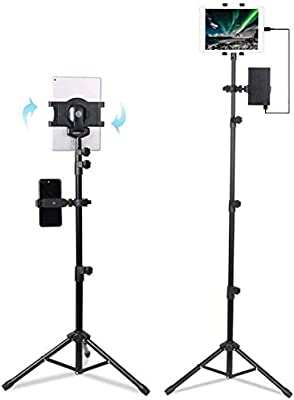 Portable Universal Large MAX Size 10-12.5 Inch Tablets Tripod Stand Adjustable