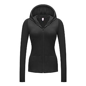 Regna X NO Bother Women's Active Lightweight Full Zip Hooded Jacket (28 Colors, S 3X)