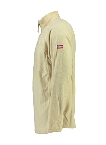 Tug Geographical Polaire Micro Norway Half Zip Homme Beige 66ICZvxqw