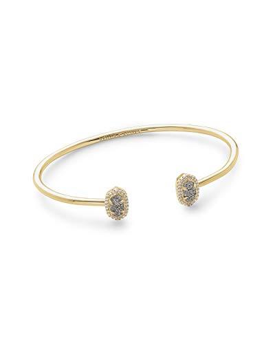 Kendra Scott Calla Cuff Bangle Bracelet in Platinum Drusy and Gold