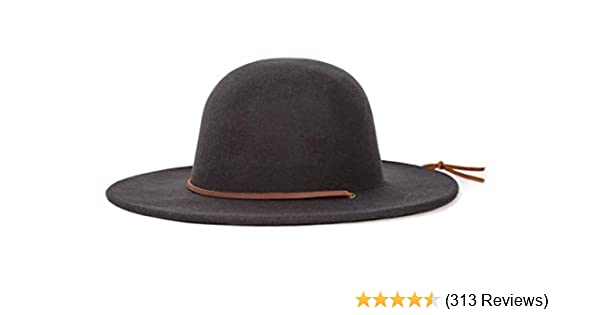 5f35d5e3ce24b3 Amazon.com: Brixton Men's Tiller Wide Brim Felt Fedora Hat: Clothing