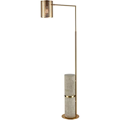 - Floor Lamps 1 Light Fixtures with Concrete with New Aged Brass Finish Metal/Concrete Material E26 62