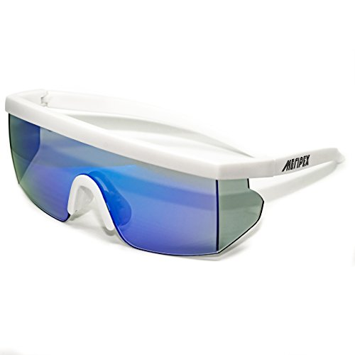 - Meripex Apparel Unisex Sport Retro Vintage Mirrored Sunglasses cheaper than Pit Vipers Halloween (Matte White)
