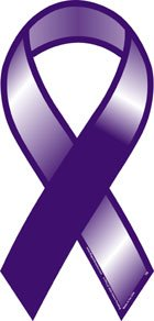 Plain Purple Awareness Ribbon magnet