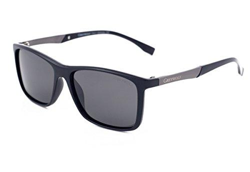 Wolf Negro sol para Negro de M hombre Grey Gafas AZxn1W1