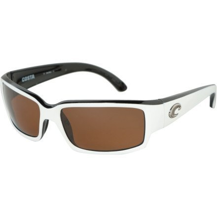 Costa Caballito Polarized Sunglasses - Costa 580 Glass Lens White-Black/Copper, One Size
