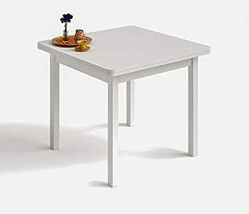 HOGAR24 es- Mesa Cuadrada Multiusos Comedor Cocina Dimensiones 90 cm ...