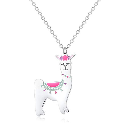 VINJEWELRY Alpaca Pendant Necklace Farm Animal Wonderful Birthday Stainless Steel Charm