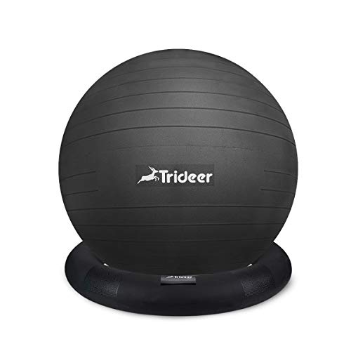 Trideer Ball Chair - Exercise Stability Yoga Ball with Base for...