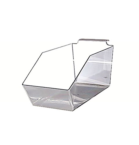 AMKO SPAB-115 11 1/2'' Acrylic Molded Bin - Set of 5 Slatwall Dump Bin, Durable Plastic Containers, Wall Mounted Space Organizing Accessory. Retail Shelving and Wall Displays by AMKO Displays