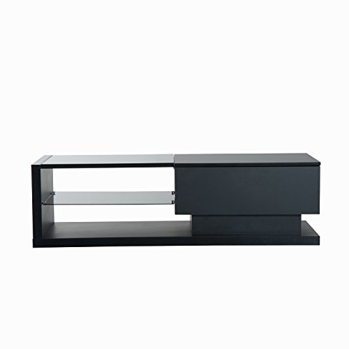 HomCom 51'' Modern TV Stand Media Center - Black by Overstock (Image #1)'