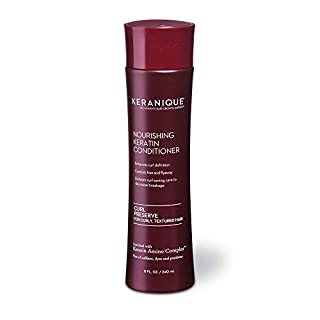 Keranique Curl Preserve Conditioner for Curly Hair, Textured Hair – Keratin Amino Complex, Sulfate Free, Paraben Free, Dye Free, 8 fl oz. (1 Pack)