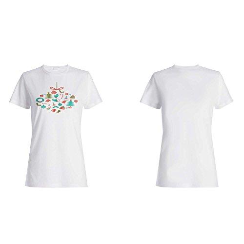 FELIZ NAVIDAD XMAS FUNNY NOVEDAD NUEVO camiseta de las mujeres l76f