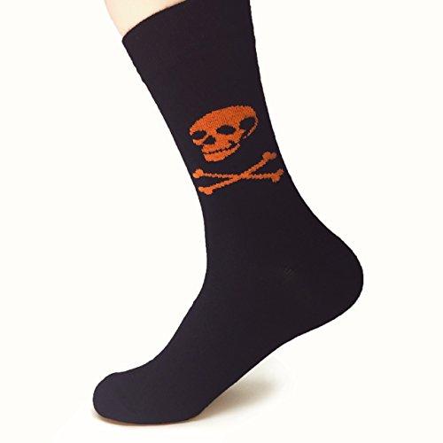 Natural Underwear Halloween Costume Socks Womens Socks Black Halloween Scary Men Women Youth Bamboo Crew Socks Comfort Luxury Healthy Socks -