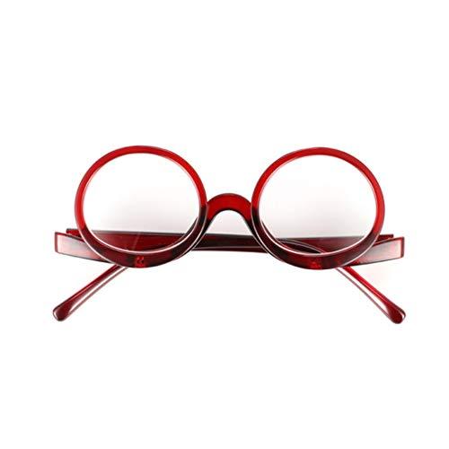 Pour Lire Lunettes À Maquillage De 3 Couvercle Muchao Mode 5 Rabattable Rouge Femme 1 0 xwAqnd