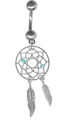 Dream Catcher Belly Button Rings Amazoncom 41 gauge Carefree Lightweight Dream Catcher Belly 21