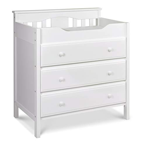 (Jayden 3 Drawer Changer Dresser in White)