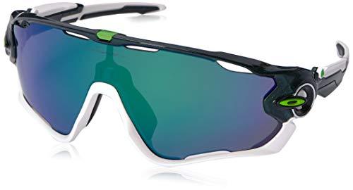 Oakley Men's Jawbreaker Non-Polarized Iridium Rectangular Sunglasses, METALLIC GREEN, 0 mm