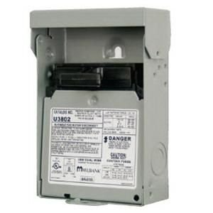 Milbank U3802 2 Pole 1 Phase Non-Fusible Air Conditioner Disconnect Switch 240 Volt AC 60 Amp NEMA 3R