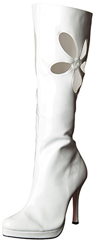 Lovechild White Adult Boots (Lovechild Go Go Boots Adult Costume Shoes White - Size 10)