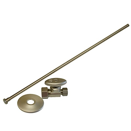 Plumbest S10-37BN Angle Closet Supply and Stop Kit, Brushed Nickel