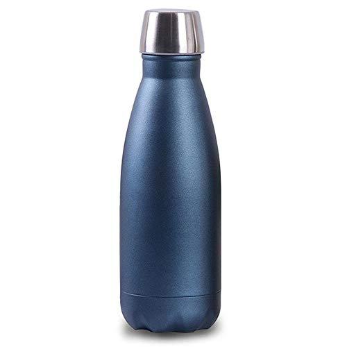 Botella de agua KOBWA de acero inoxidable (2018, 350 ml, aislamiento térmico, botella de agua aislada al aspiradora, a...