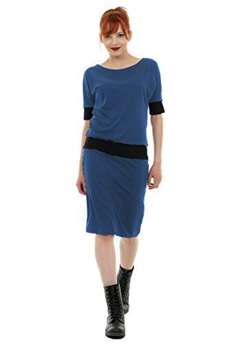 Vestido Mujer Largos Producido 3elfen En Berlín Azul Verano PwxqnvC5A