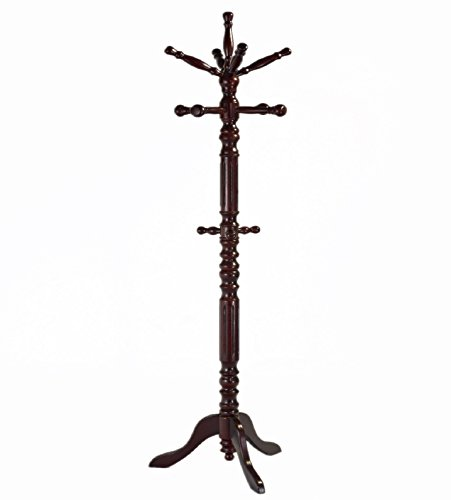 - Frenchi Home Furnishing Traditional Spining Top Wooden Coat Rack