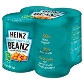 Heinz Baked Beanz Reduced Sugar And Salt 415G X 4 Pack