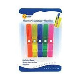 Clothespin Magnet Clips - NEO-MAGNET Magnetic Clothespin Clips - 5Pk