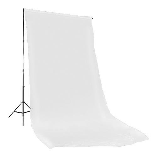 Muslin Background Solid White Color - Photoflex Solid Color Series, 10x20' Dyed Muslin Background, Solid White Color.