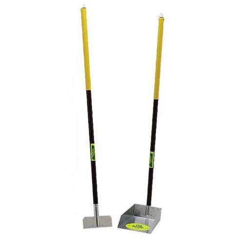 Flexrake Poop Pet Scoop with 4-Feet Aluminum Handle, Large ()