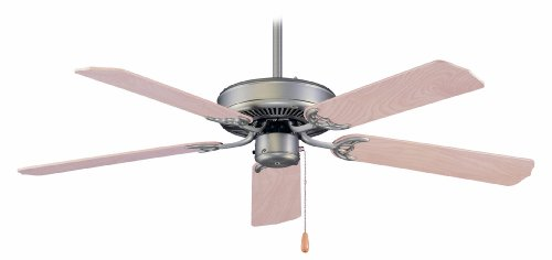 Royal Pacific 1052BP-ES Royal Star I 5-Blade 52-Inch Ceiling Fan, Brushed Pewter with Natural Maple Blades, Energy Star Rated by RP Lighting
