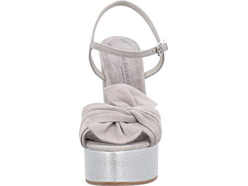 Women's Light Sandals Light Silver 76130 Schuhmanufaktur Kennel und Fashion 376 Schmenger qnA4STHP4