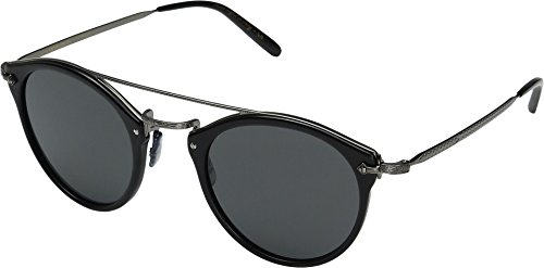 Oliver Peoples Unisex Remick Semi-Matte Black/Antique Pewter/Grey - Peoples Shades Oliver