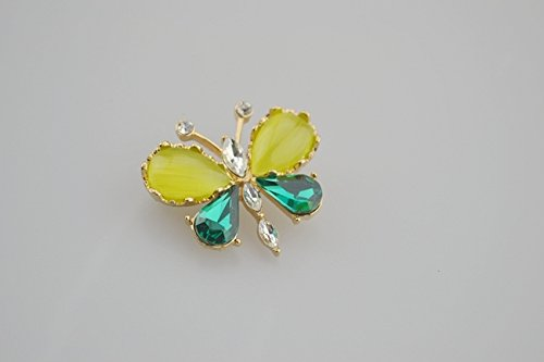 Stones Pin Butterfly - TKHNE fashion butterfly brooch pin badge inlaid stones